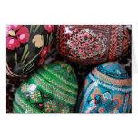 Ukrainian pysanky - easter eggs card