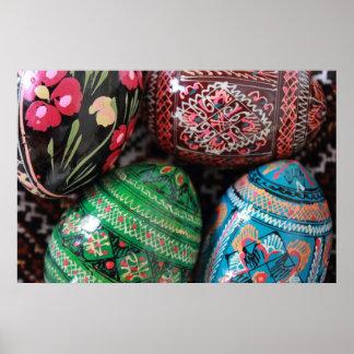 Ukrainian pysanky - easter eggs poster