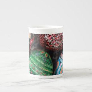 Ukrainian pysanky - easter eggs tea cup