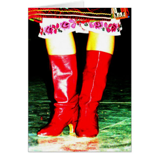 Ukrainian Red Boots Greeting Card