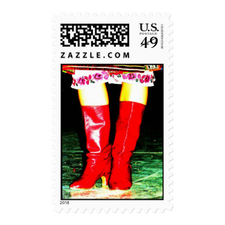 Ukrainian Red Boots Postage Stamps