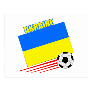 Ukrainian Soccer Team Postcard
