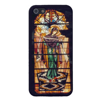 Ukrainian Stained Glass Virgin Mary Case For iPhone 5