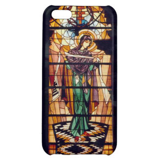 Ukrainian Stained Glass Virgin Mary Case For iPhone 5C