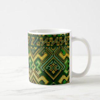 Ukrainian Style Cross Stitch Pattern Mug