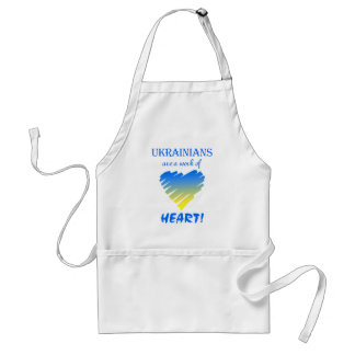 Ukrainians are a Work of Heart~Apron Adult Apron