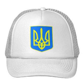 Ukranian Flag Hat / Ukraine Crest Cap