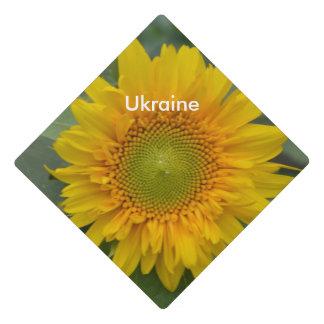 Ukranian Sunflowers Graduation Cap Topper