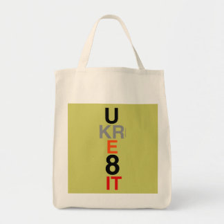 UKRE8IT (You Create It) Grocery Tote Canvas Bags