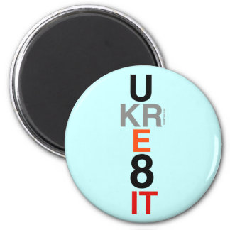 UKRE8IT (You Create It) Round Refrigerator Magnet