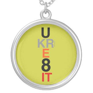 UKRE8IT (You Create It) Silver Necklace (Mod)