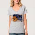 Ukulele and Blue Lei T Shirt