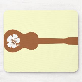 Ukulele and hibisbus mouse pad