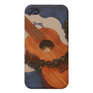 Ukulele and Kukui Nut Lei Case