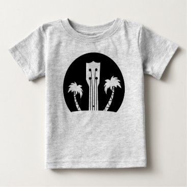 USA Themed Ukulele and Palm Trees Baby T-Shirt