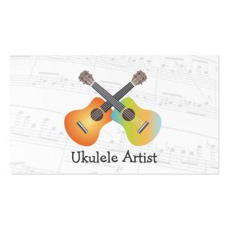 Ukulele Artist Music Notes Business Card