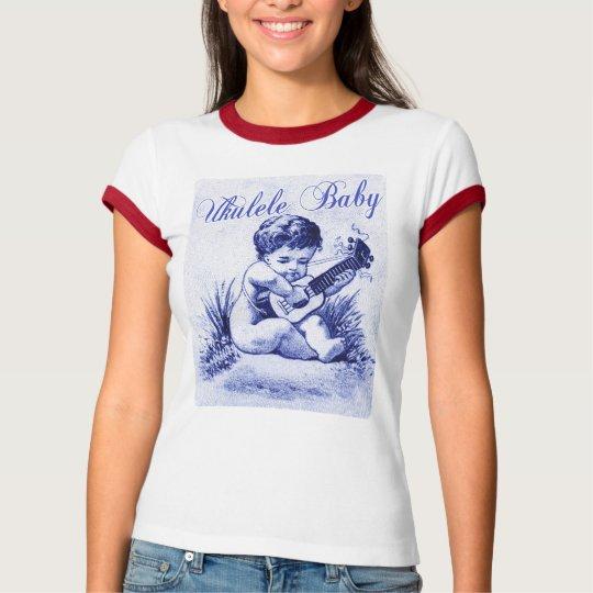 Ukulele Baby Ladies Ringer T-Shirt