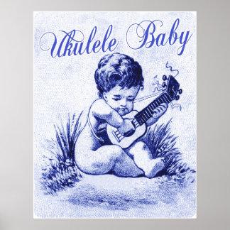 Ukulele Baby Poster