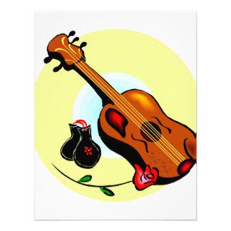 Ukulele Castanets Rose Design Graphic Musical Personalized Invitation