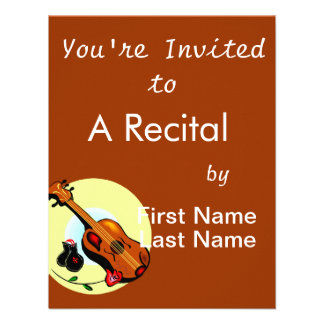 Ukulele Castanets Rose Design Graphic Musical Personalized Announcement
