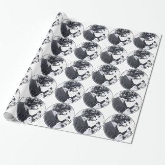 Ukulele Cat round Wrapping Paper