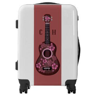 Ukulele custom monogram luggage