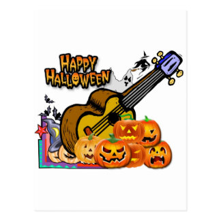 Ukulele de Halloween Tarjetas Postales