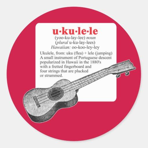 Ukulele Definition Sticker Zazzle