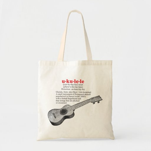 Ukulele Definition Tote Bag