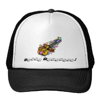 Ukulele del feliz cumpleaños gorras de camionero
