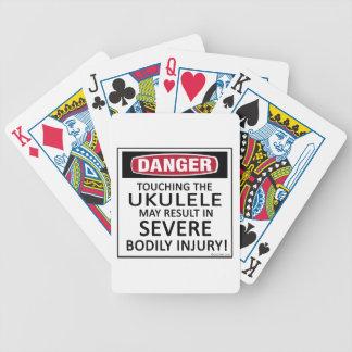 Ukulele del peligro barajas de cartas