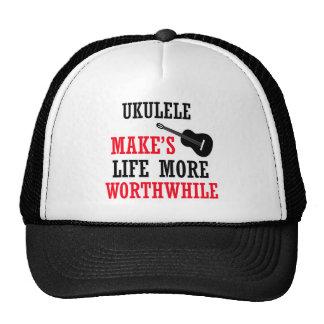 ukulele design trucker hats