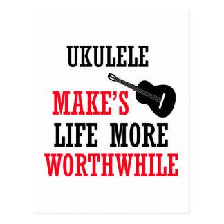 ukulele design postcard