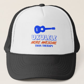 Ukulele design trucker hat