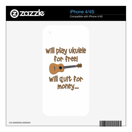 Ukulele divertido skins para iPhone 4