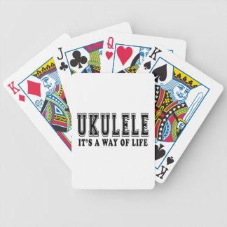 Ukulele es manera de vida barajas de cartas