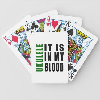Ukulele está en mi sangre barajas de cartas