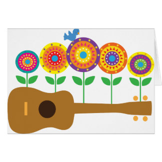 Ukulele Flowers Card