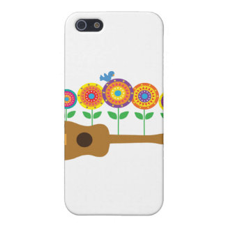 Ukulele Flowers Cover For iPhone SE/5/5s