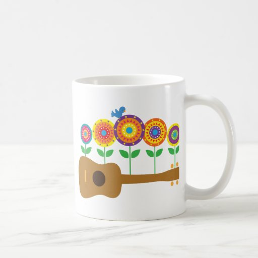 Ukulele Flowers Mug