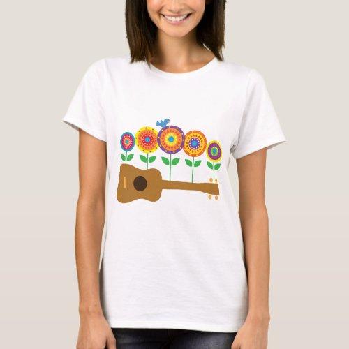 Ukulele Flowers T_Shirt