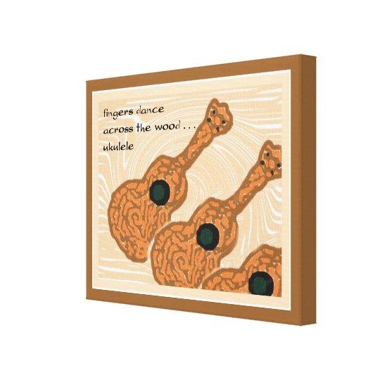 Ukulele Haiku Art Wrapped Canvas