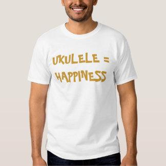 Ukulele = happiness tee shirt