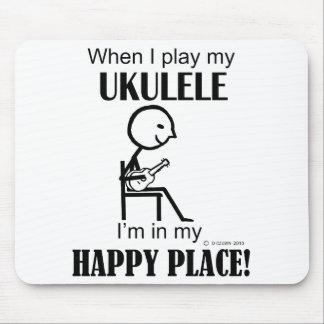 Ukulele Happy Place Mouse Pad