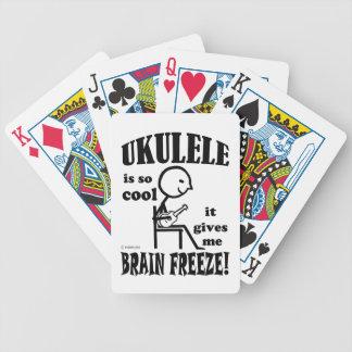 Ukulele, helada del cerebro baraja