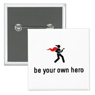 Ukulele Hero Pinback Button