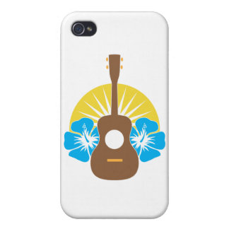 Ukulele Hibiscus iPhone 4/4S Cover