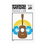 Ukulele Hibiscus Stamps