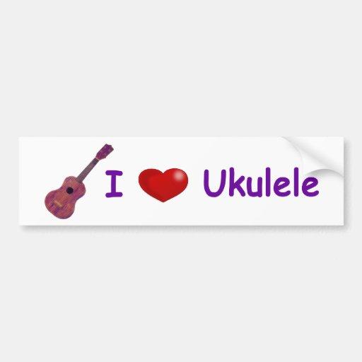 Ukulele I (del corazón) Pegatina Para Auto