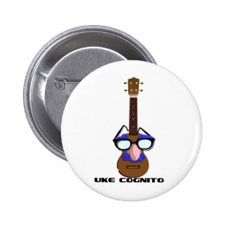 Ukulele Incognito Pinback Buttons